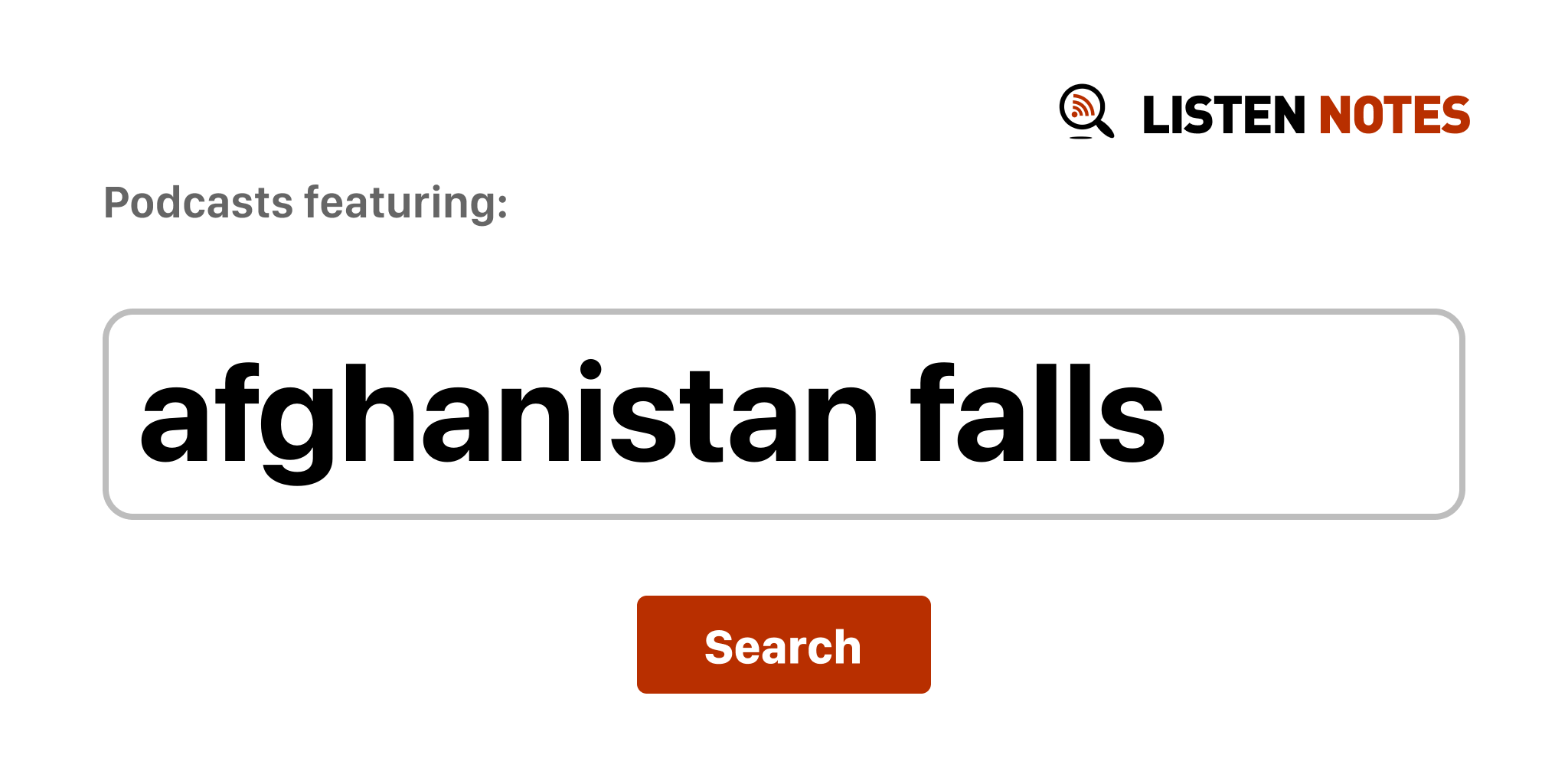 Afghanistan Falls - Top podcast episodes